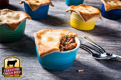 Instant Pot Beef Pot Pies recipe provided by the Certified Angus Beef® brand.