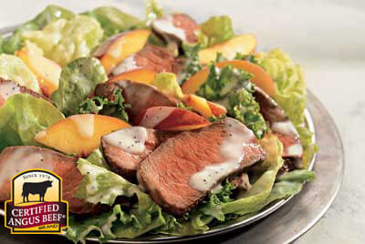 Steak & Peach Salad with Lemon Dressing recipe provided by the Certified Angus Beef® brand.
