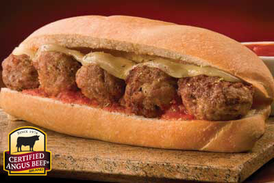 Meatball Hoagie recipe provided by the Certified Angus Beef® brand.