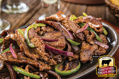 Flank Steak Fajitas recipe provided by the Certified Angus Beef® brand.
