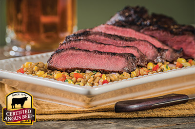 Savory Marinated Flat Iron recipe provided by the Certified Angus Beef® brand.