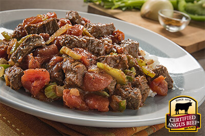 Creole Beef Rice Bowl recipe provided by the Certified Angus Beef® brand.