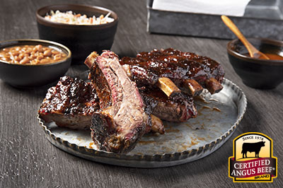 Bourbon Barbecue Beef Back Ribs  recipe provided by the Certified Angus Beef® brand.