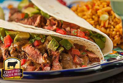Tri-Tip Soft Tacos with Peruvian-Style Hot Sauce  recipe provided by the Certified Angus Beef® brand.