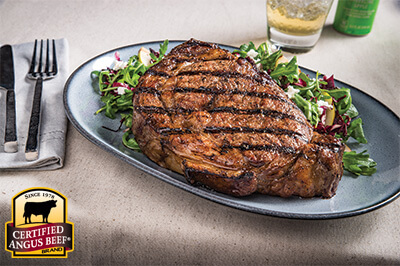 Grilled Ribeye with Arugula, Radicchio and Pear Salad recipe provided by the Certified Angus Beef® brand.